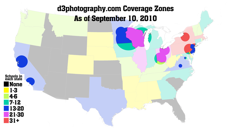 d3photography.com coverage map as of sept 10, 2010